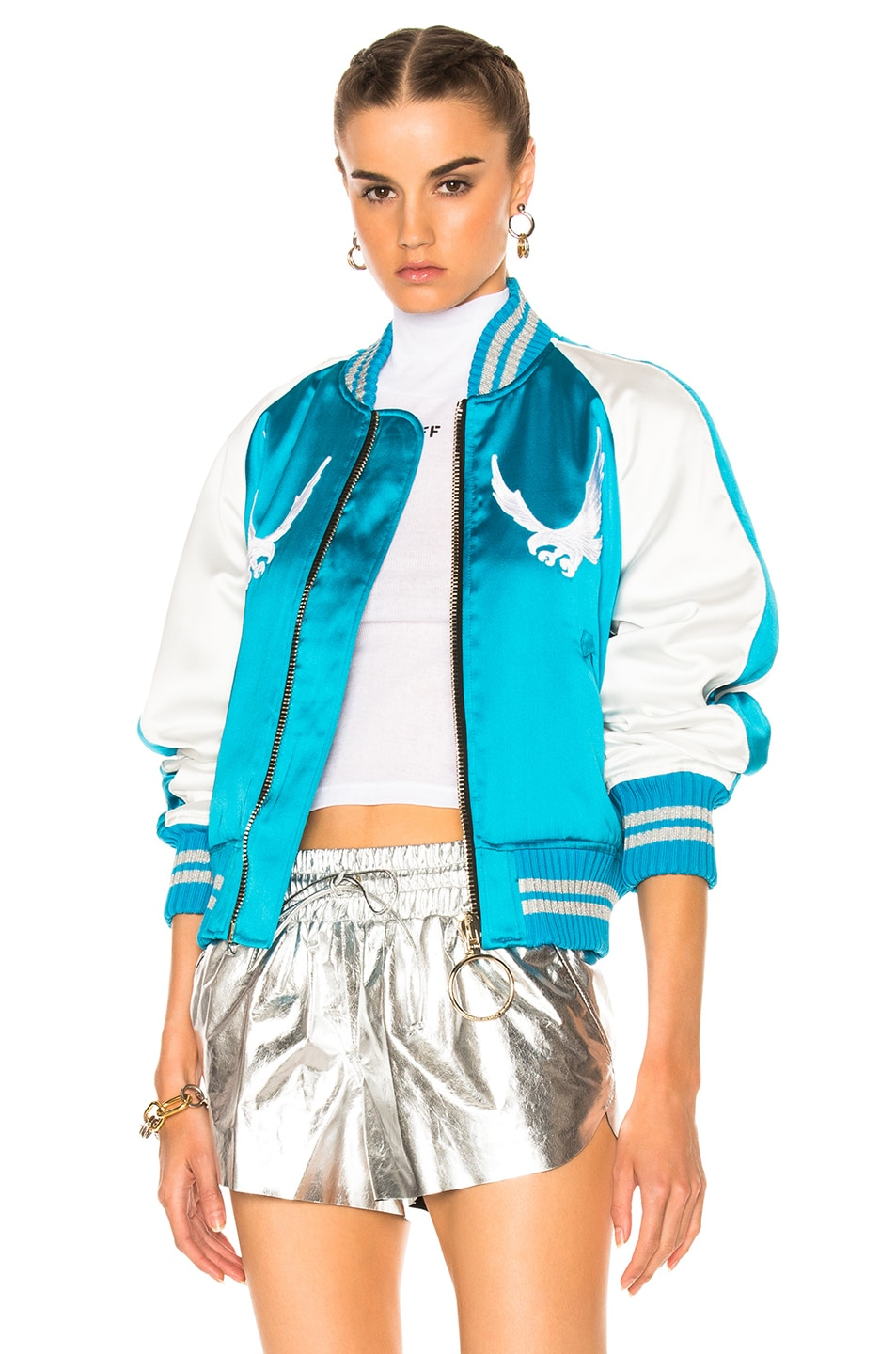 Image 2 of OFF-WHITE Souvenir Jacket in Blue & White
