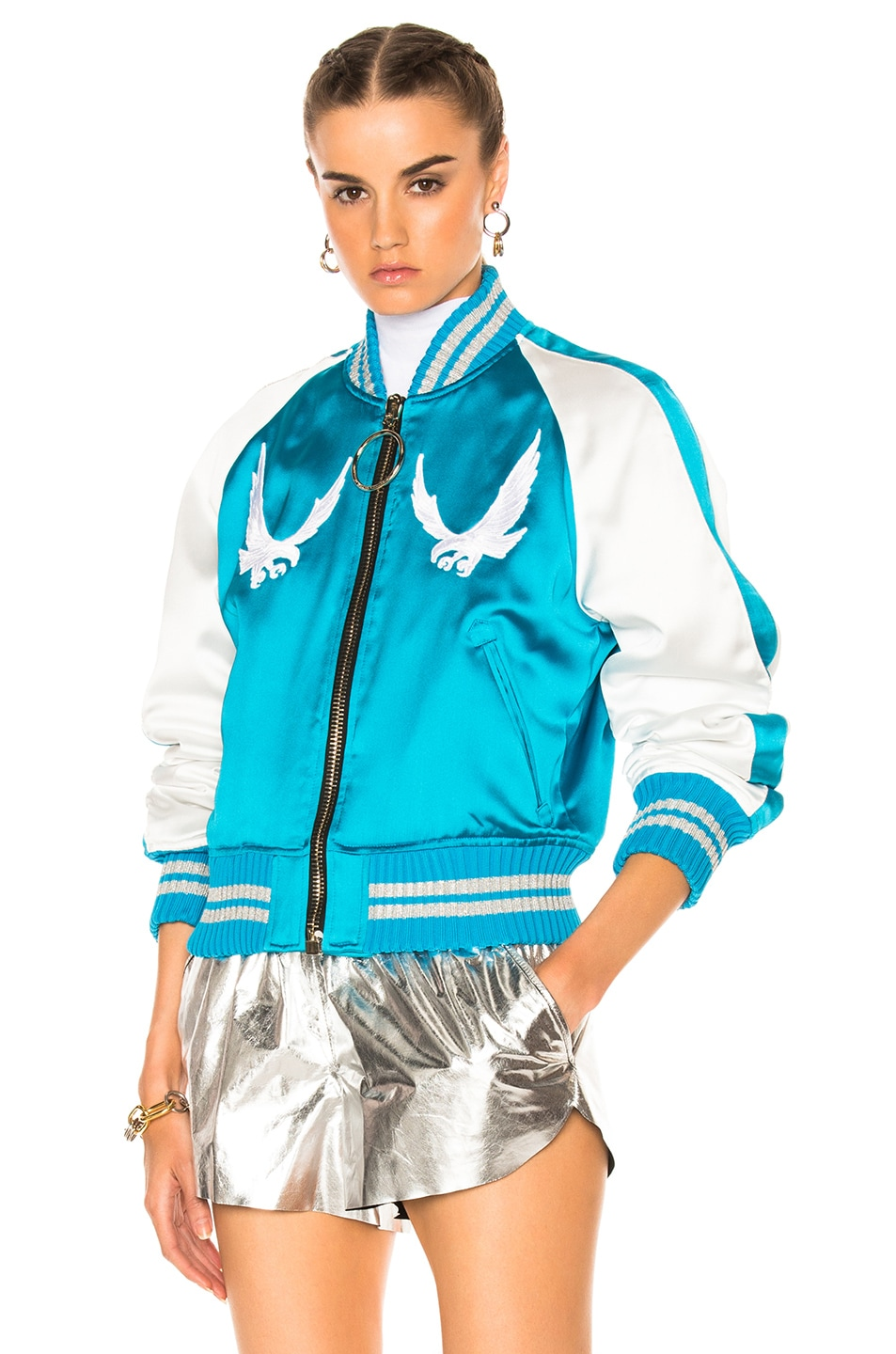 Image 3 of OFF-WHITE Souvenir Jacket in Blue & White
