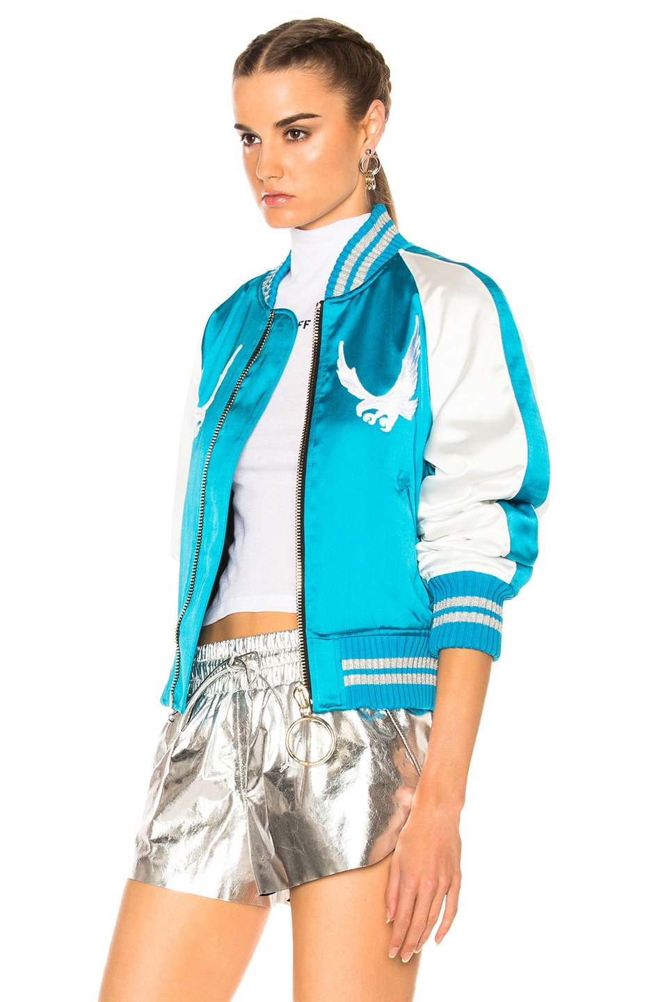 Image 4 of OFF-WHITE Souvenir Jacket in Blue & White