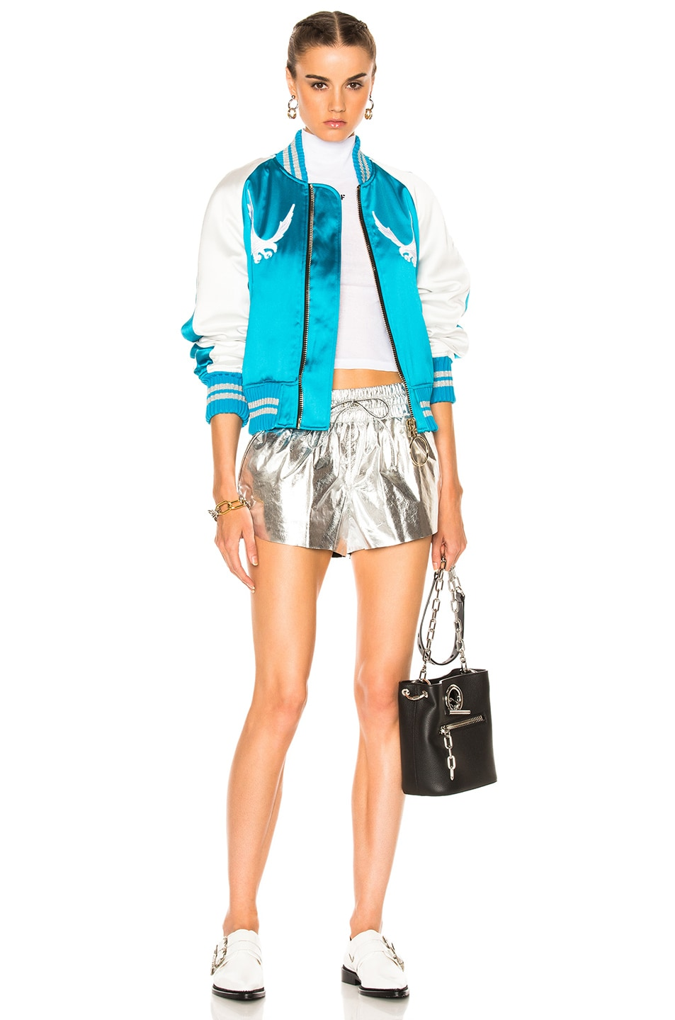 Image 7 of OFF-WHITE Souvenir Jacket in Blue & White