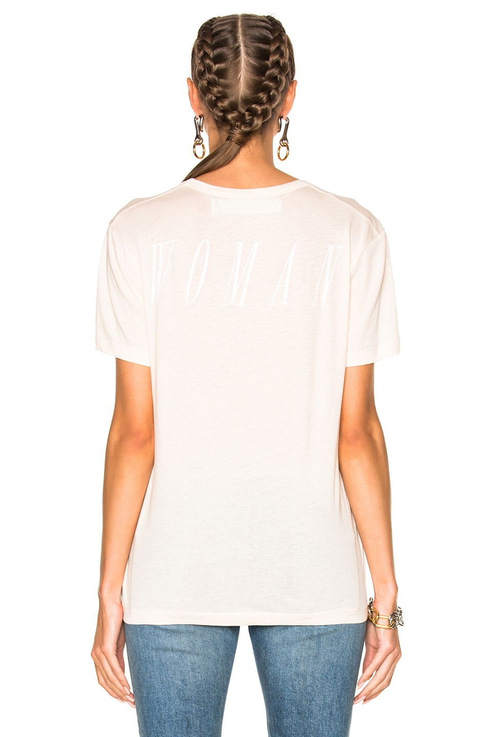 Image 4 of OFF-WHITE for FWRD Basic Scoop Tee in Nude & White