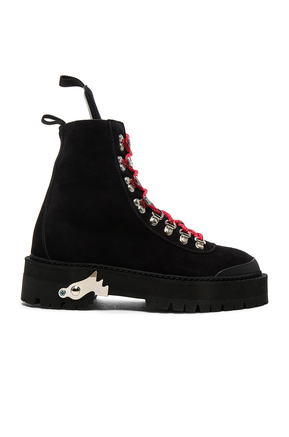 Image 1 of OFF-WHITE Suede Hiking Mountain Boots in Black