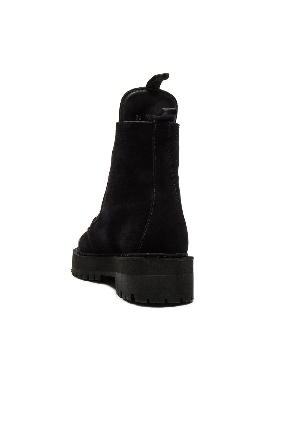 Image 3 of OFF-WHITE Suede Hiking Mountain Boots in Black