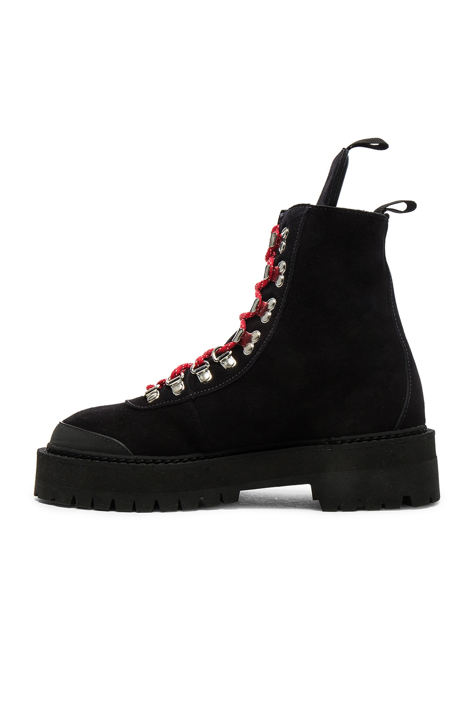 Image 5 of OFF-WHITE Suede Hiking Mountain Boots in Black