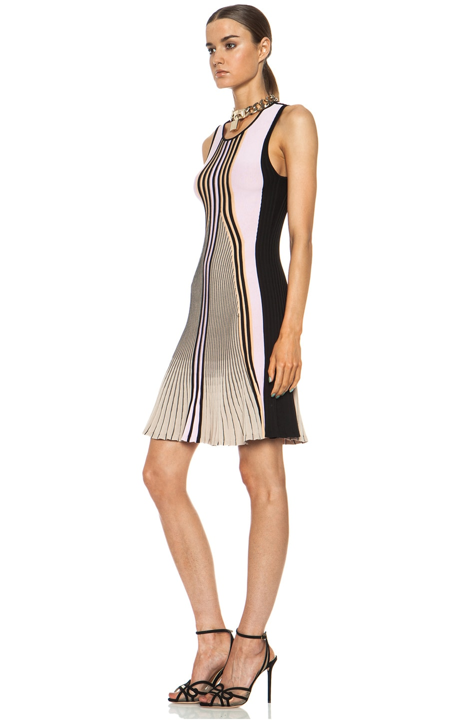 Image 2 of Ohne Titel Suspension Knit Dress in Melon Combo