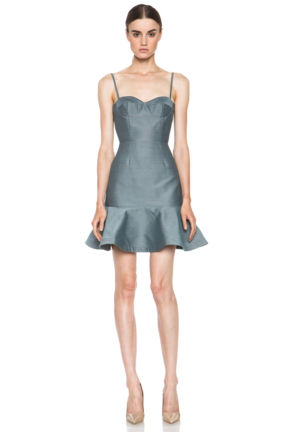 Image 1 of Opening Ceremony Calcite Poly-Blend Dress in Pool Blue