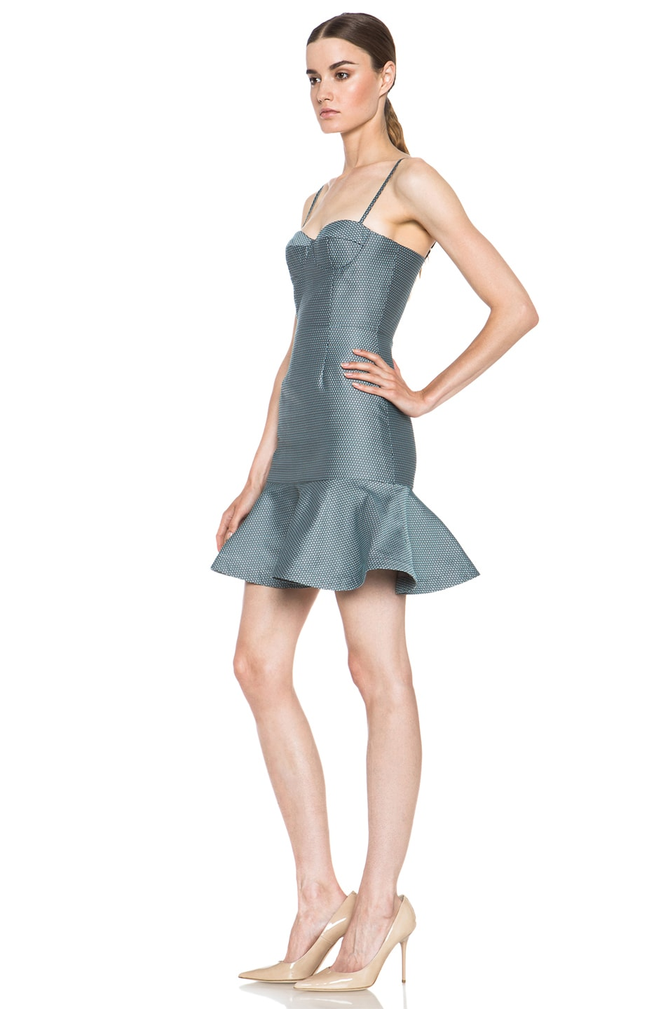 Image 2 of Opening Ceremony Calcite Poly-Blend Dress in Pool Blue
