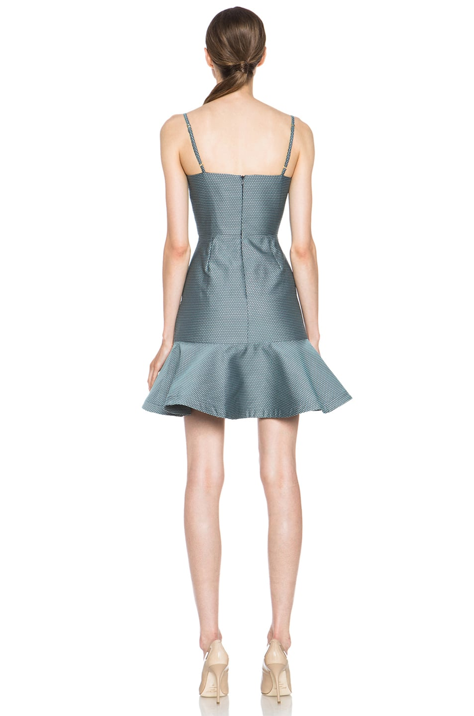 Image 4 of Opening Ceremony Calcite Poly-Blend Dress in Pool Blue