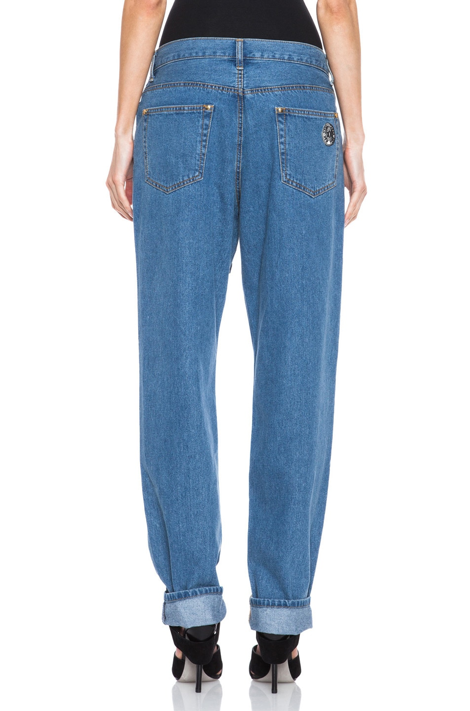 Image 4 of Opening Ceremony x DKNY Faux Wrap Jean in Denim
