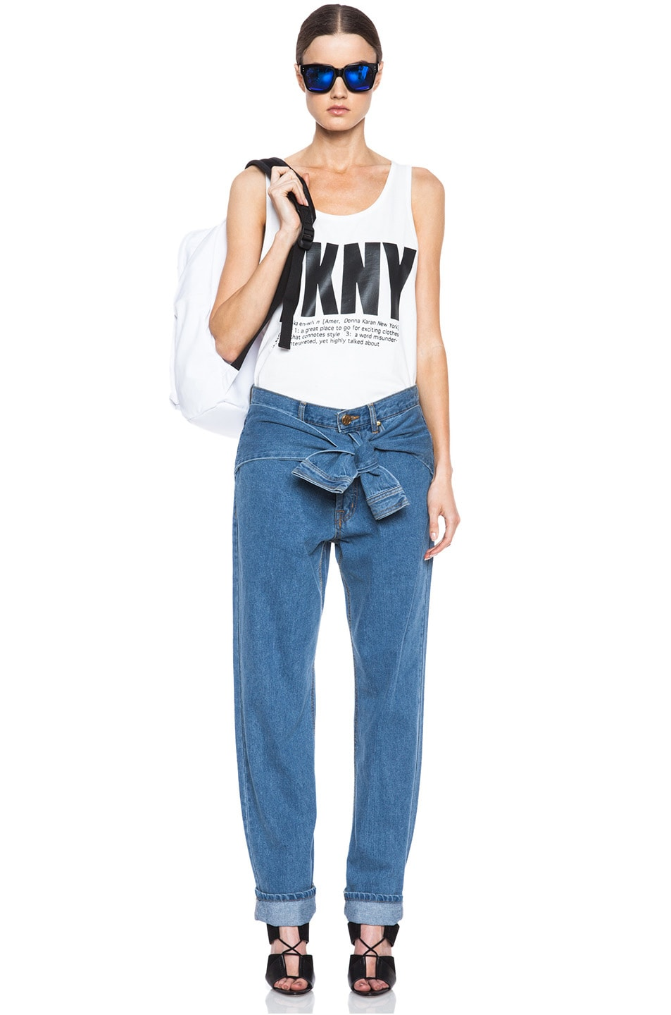 Image 5 of Opening Ceremony x DKNY Faux Wrap Jean in Denim