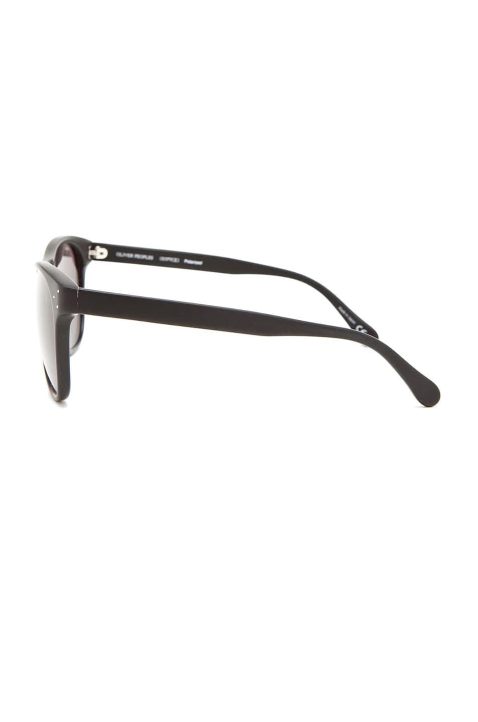 Image 3 of Oliver Peoples Daddy B Polarized Sunglasses in Matte Black