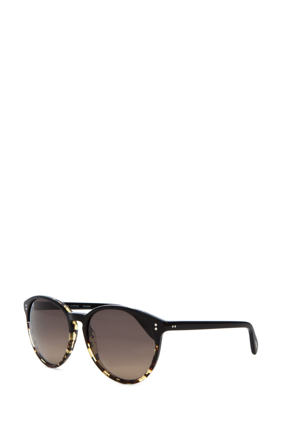 Image 2 of Oliver Peoples Corie Polarized in Dark Tortoise Black