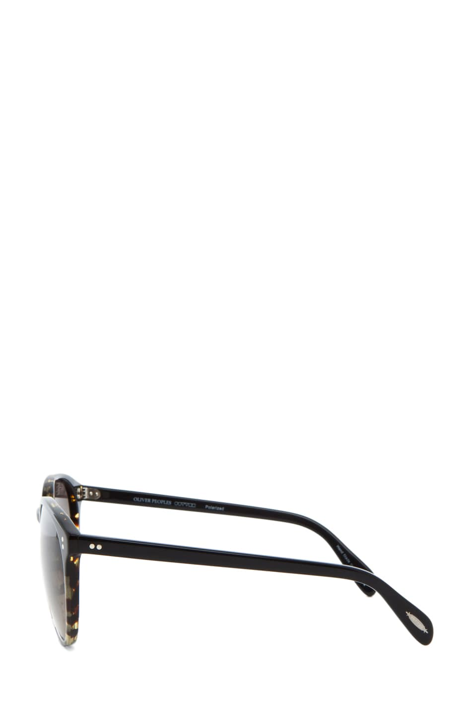 Image 3 of Oliver Peoples Corie Polarized in Dark Tortoise Black