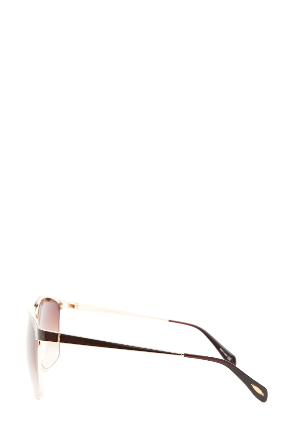Image 3 of Oliver Peoples Myriel Sunglasses in Gold/Truffle