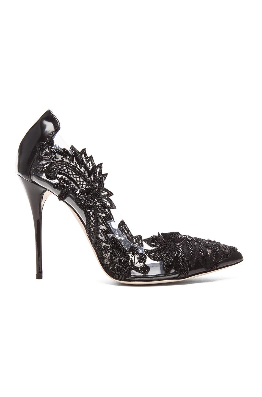 Image 1 of Oscar de la Renta Alyssa Patent Leather Heels