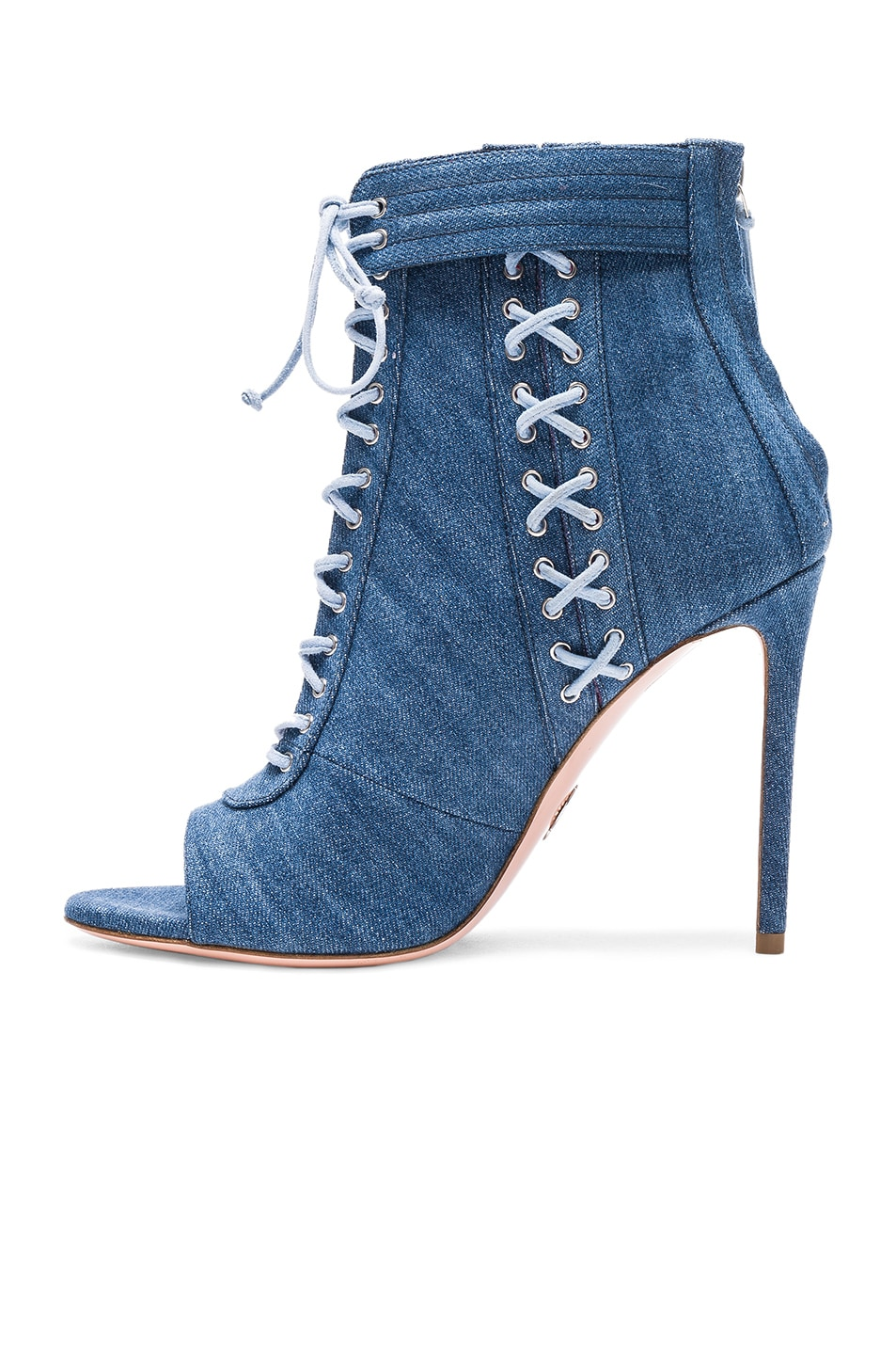 OSCAR TIYE Denim Sami T Booties