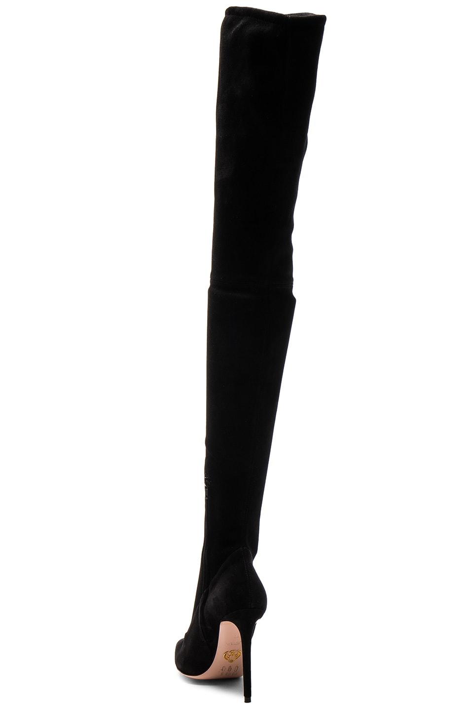 Image 3 of Oscar Tiye Lama Suede Thigh High Boots in Black