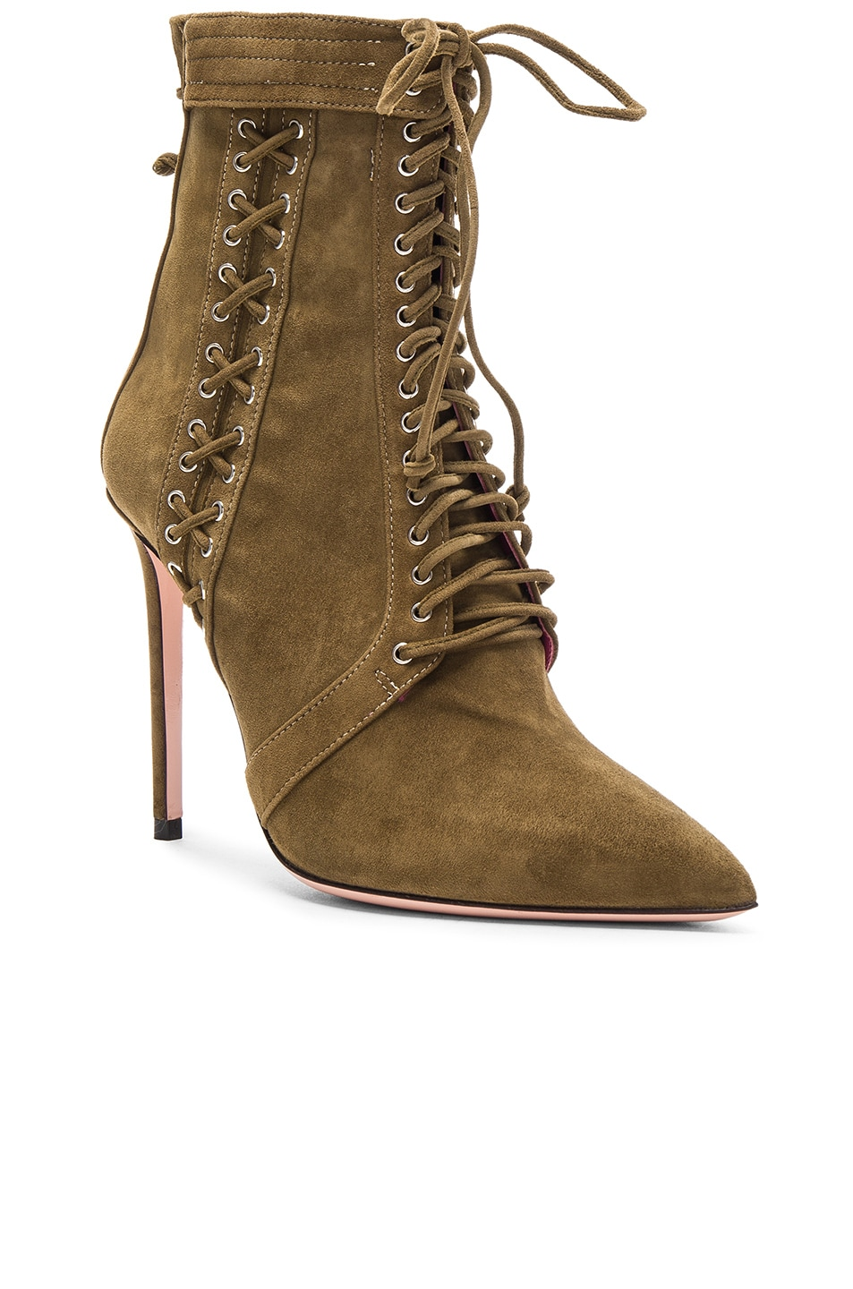 Image 2 of Oscar Tiye Samira Suede Booties in Military