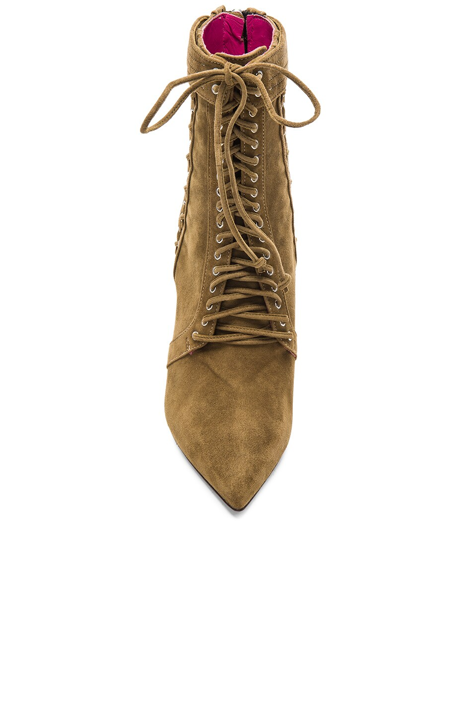 Image 4 of Oscar Tiye Samira Suede Booties in Military