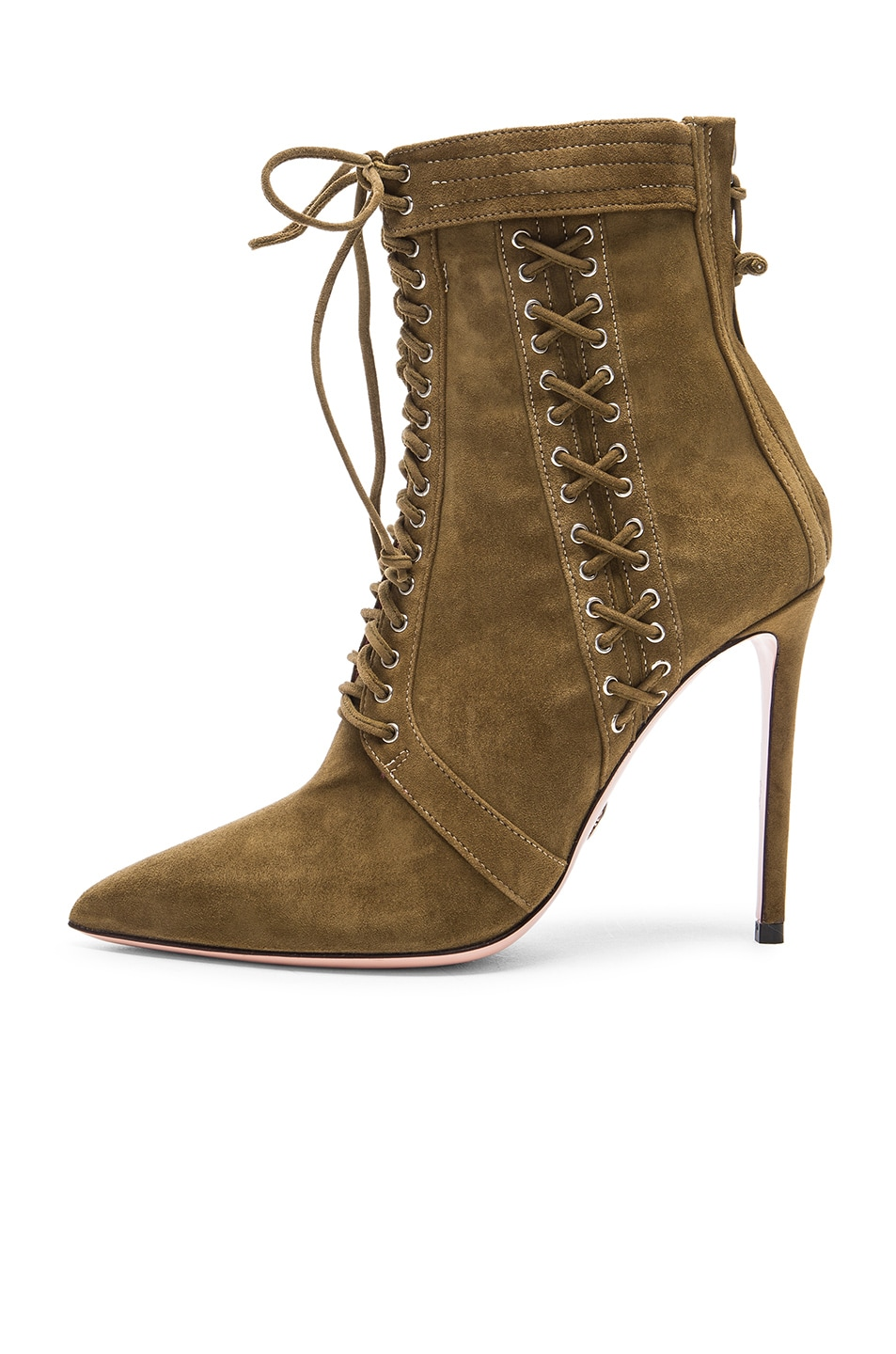 Image 5 of Oscar Tiye Samira Suede Booties in Military