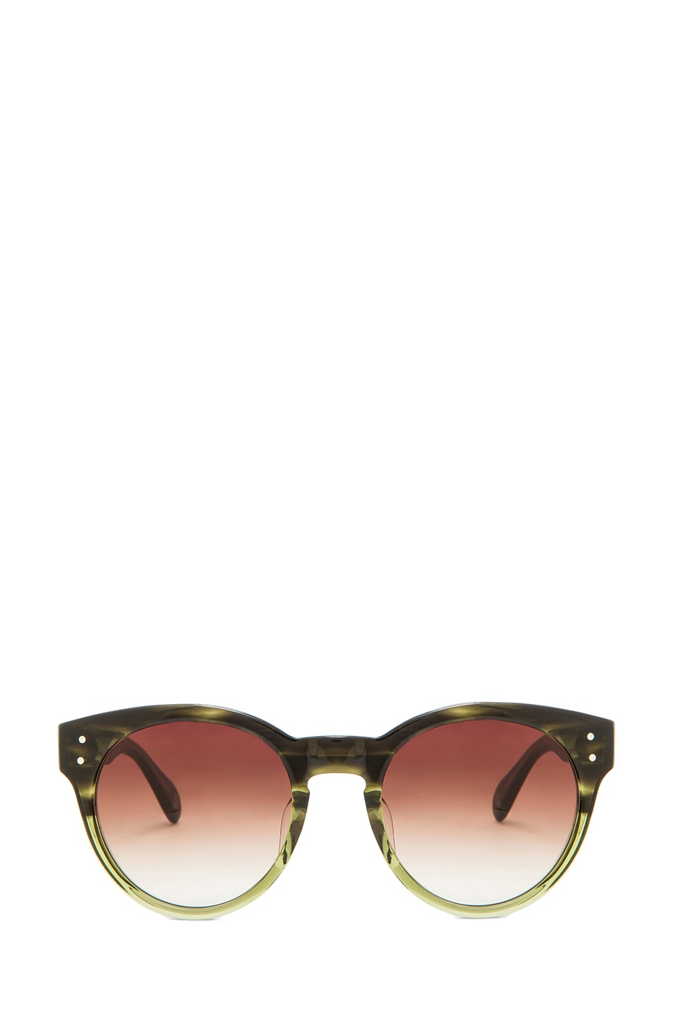 Image 1 of Oliver Peoples for Maison Kitsune Paris Sunglasses in Military
