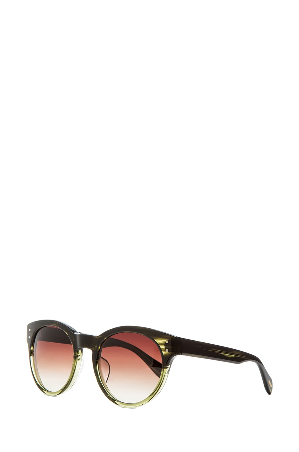 Image 2 of Oliver Peoples for Maison Kitsune Paris Sunglasses in Military