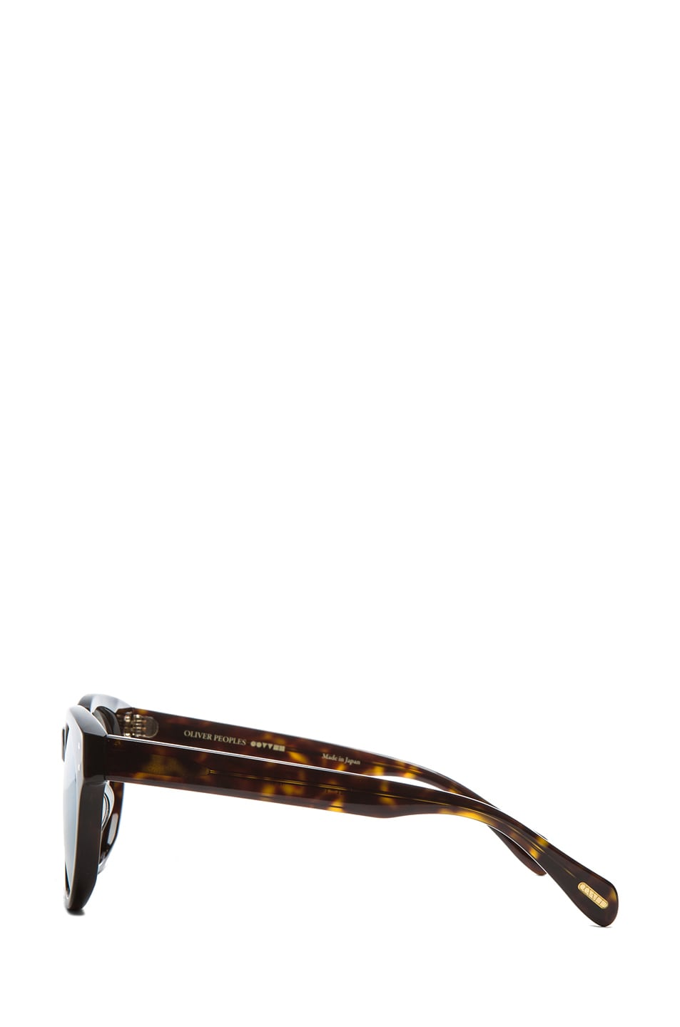 Image 3 of Oliver Peoples for Maison Kitsune Paris Sunglasses in Dark Tortoise