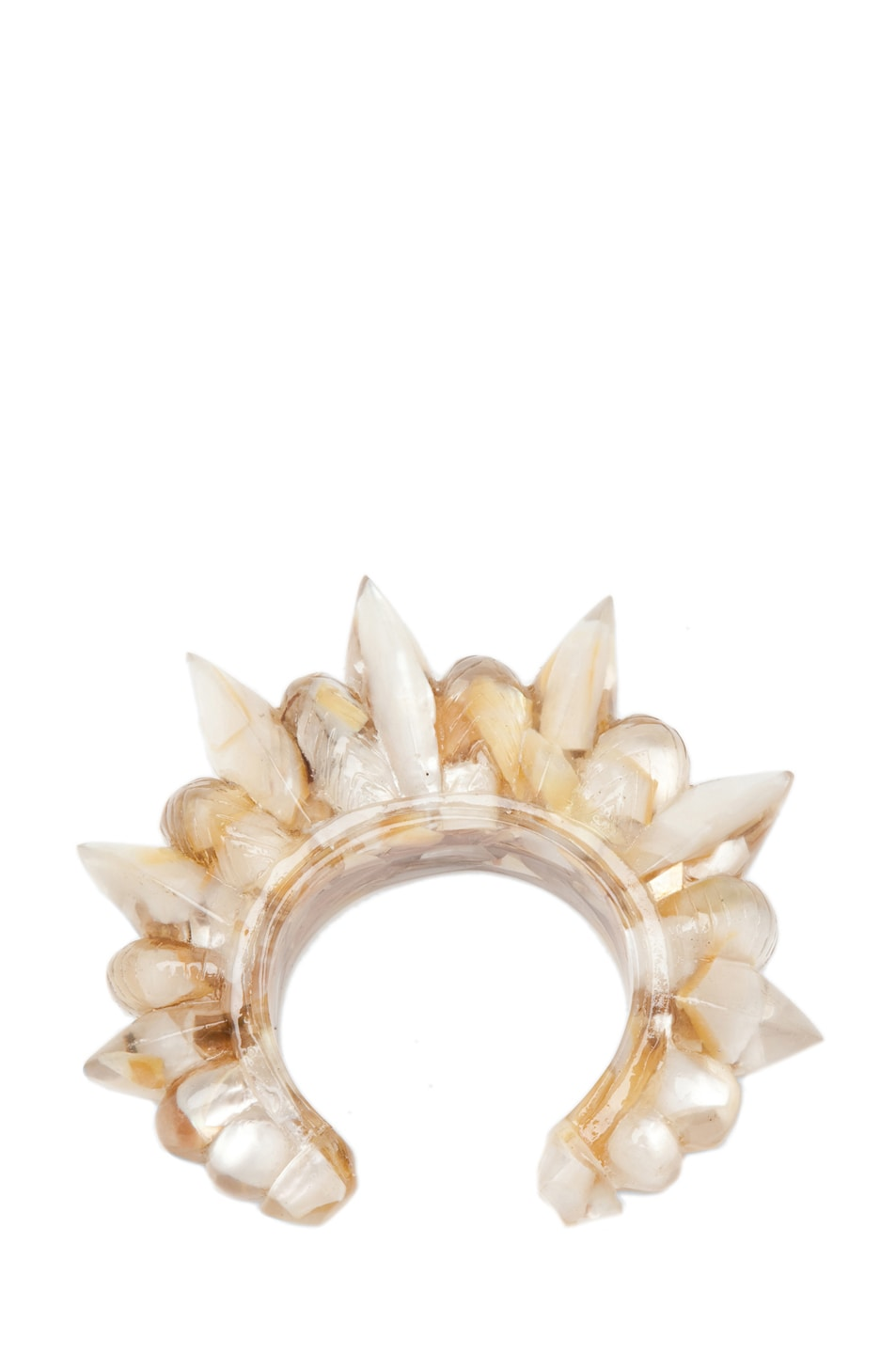 Image 1 of Pamela Love Resin Tribal Spike Cuff in Crushed Shell