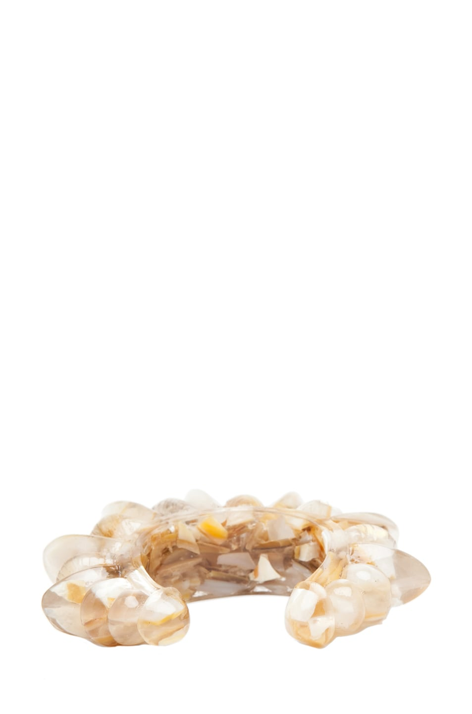 Image 4 of Pamela Love Resin Tribal Spike Cuff in Crushed Shell