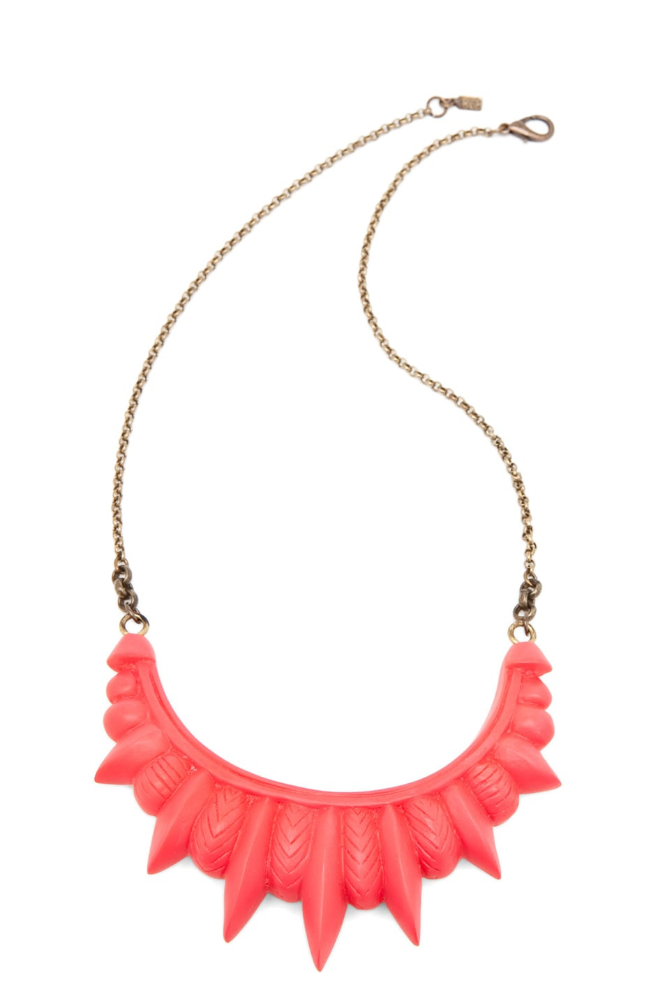 Image 1 of Pamela Love Resin Tribal Spike Necklace in Red Matte