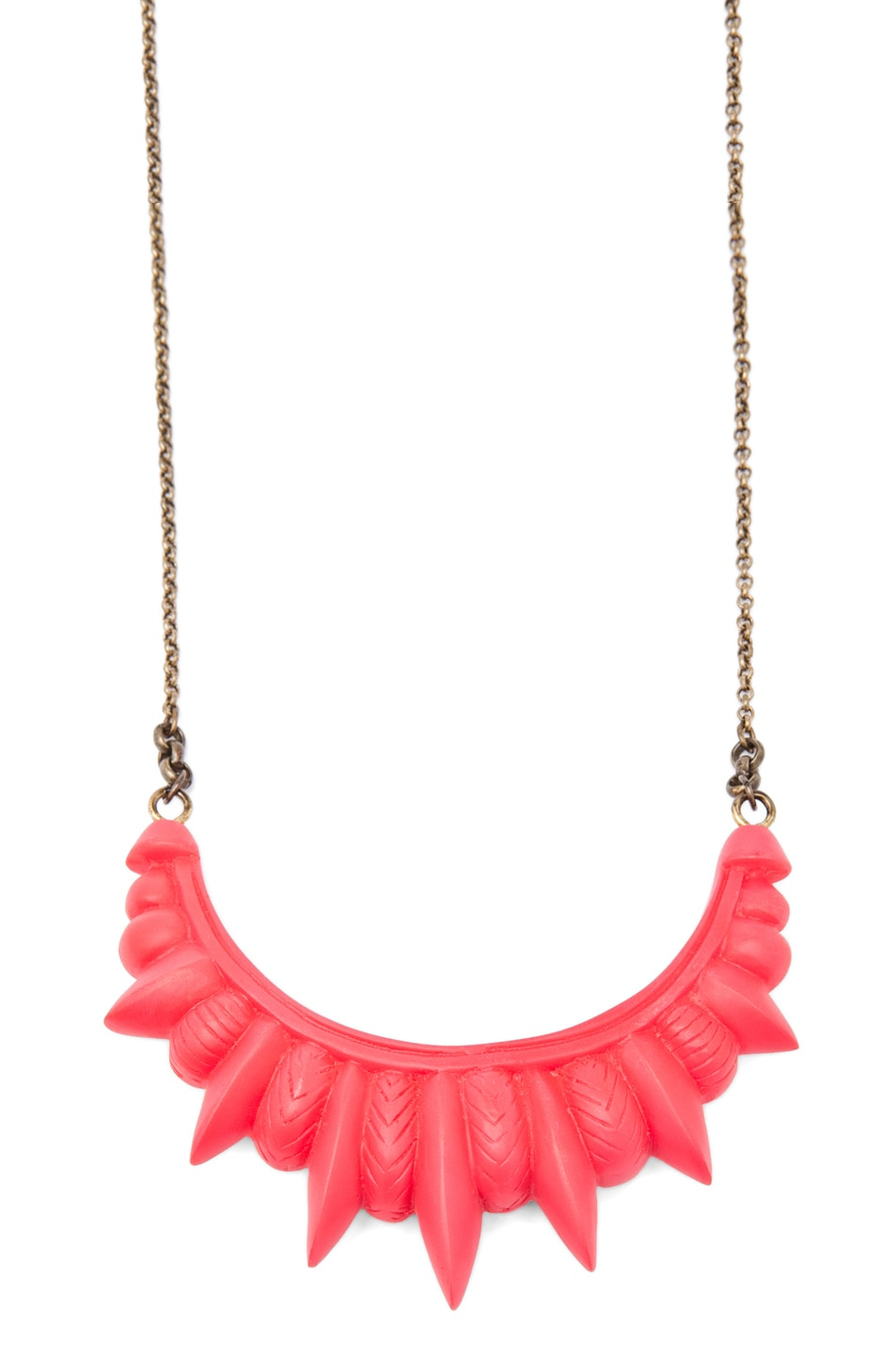 Image 2 of Pamela Love Resin Tribal Spike Necklace in Red Matte