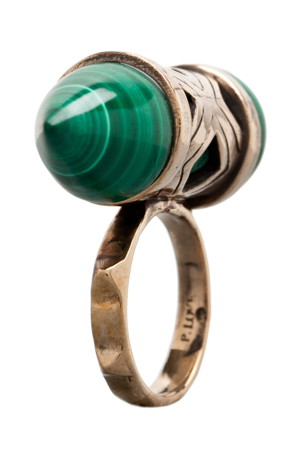 Image 2 of Pamela Love Cutout Ring in Bronze/Malachite