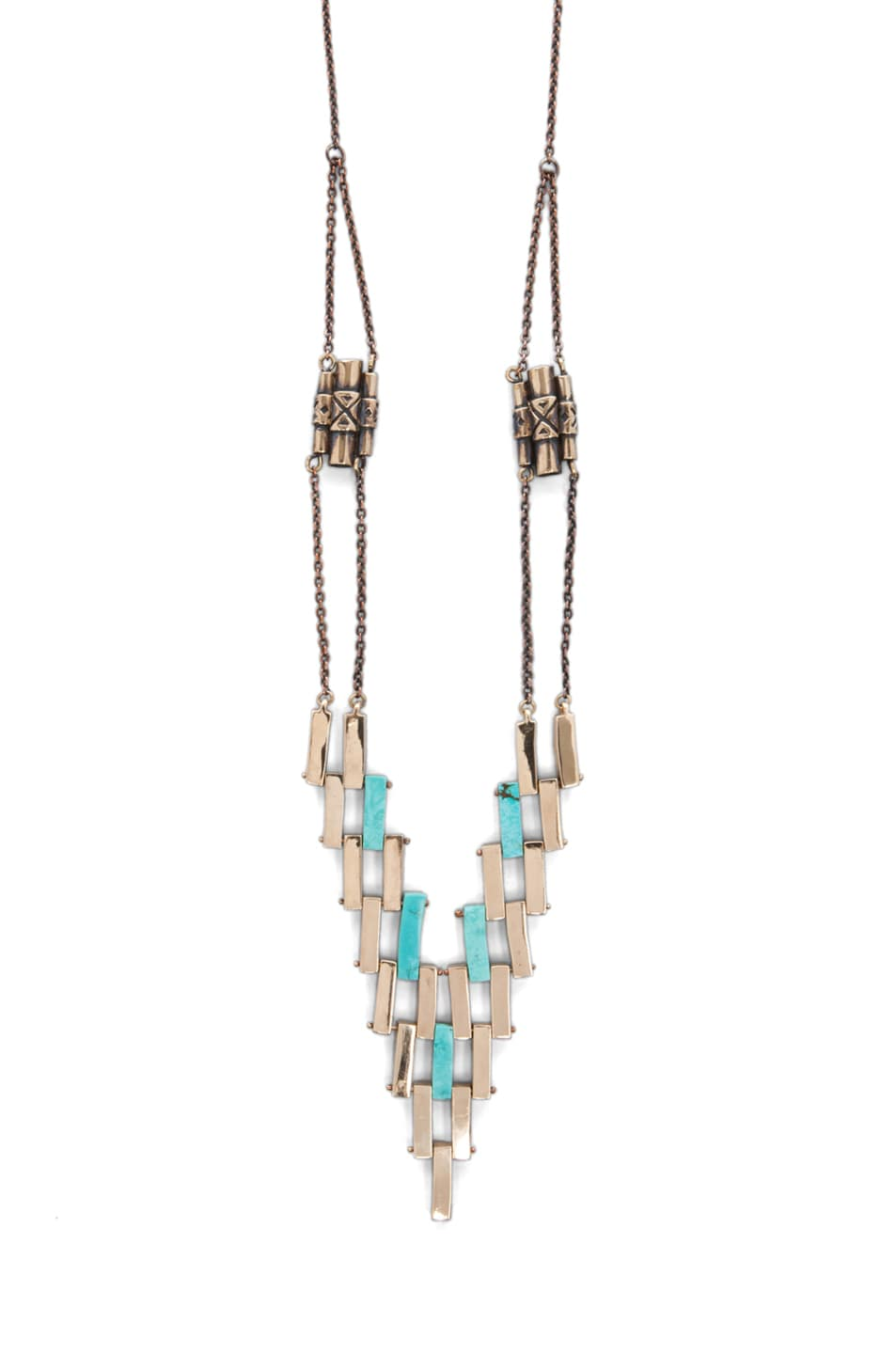 Image 1 of Pamela Love Empire Necklace in Turquoise