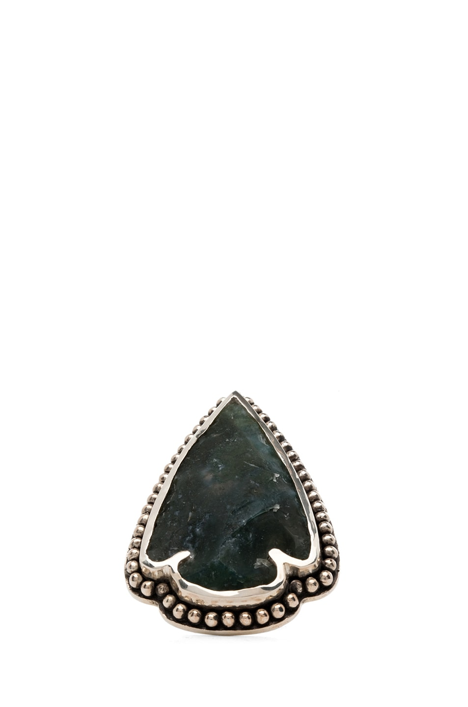 Image 2 of Pamela Love Arrowhead Ring in Green
