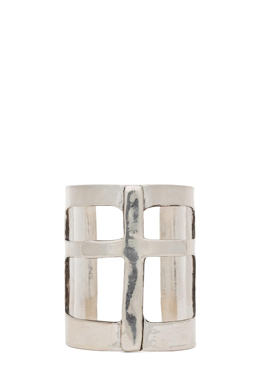 Image 1 of Pamela Love Cross Cuff in Silver Plate