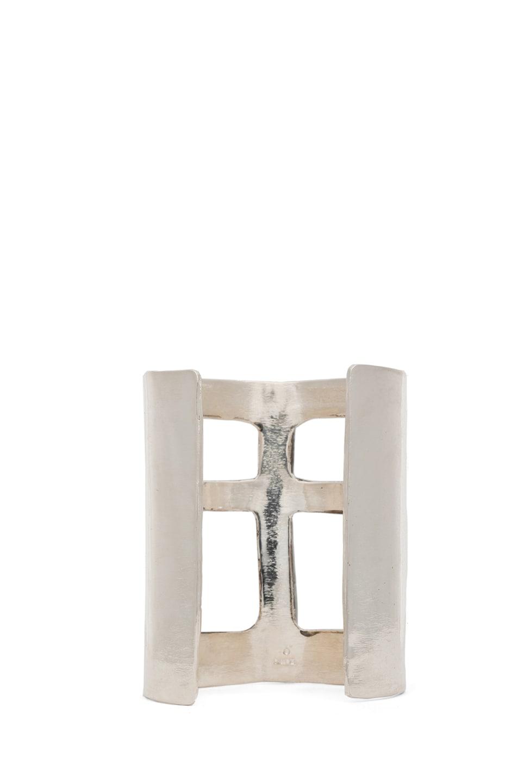 Image 3 of Pamela Love Cross Cuff in Silver Plate