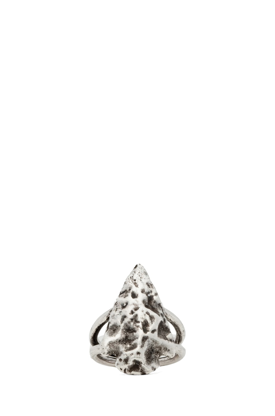 Image 1 of Pamela Love Mini Arrowhead Ring in Antique Silver