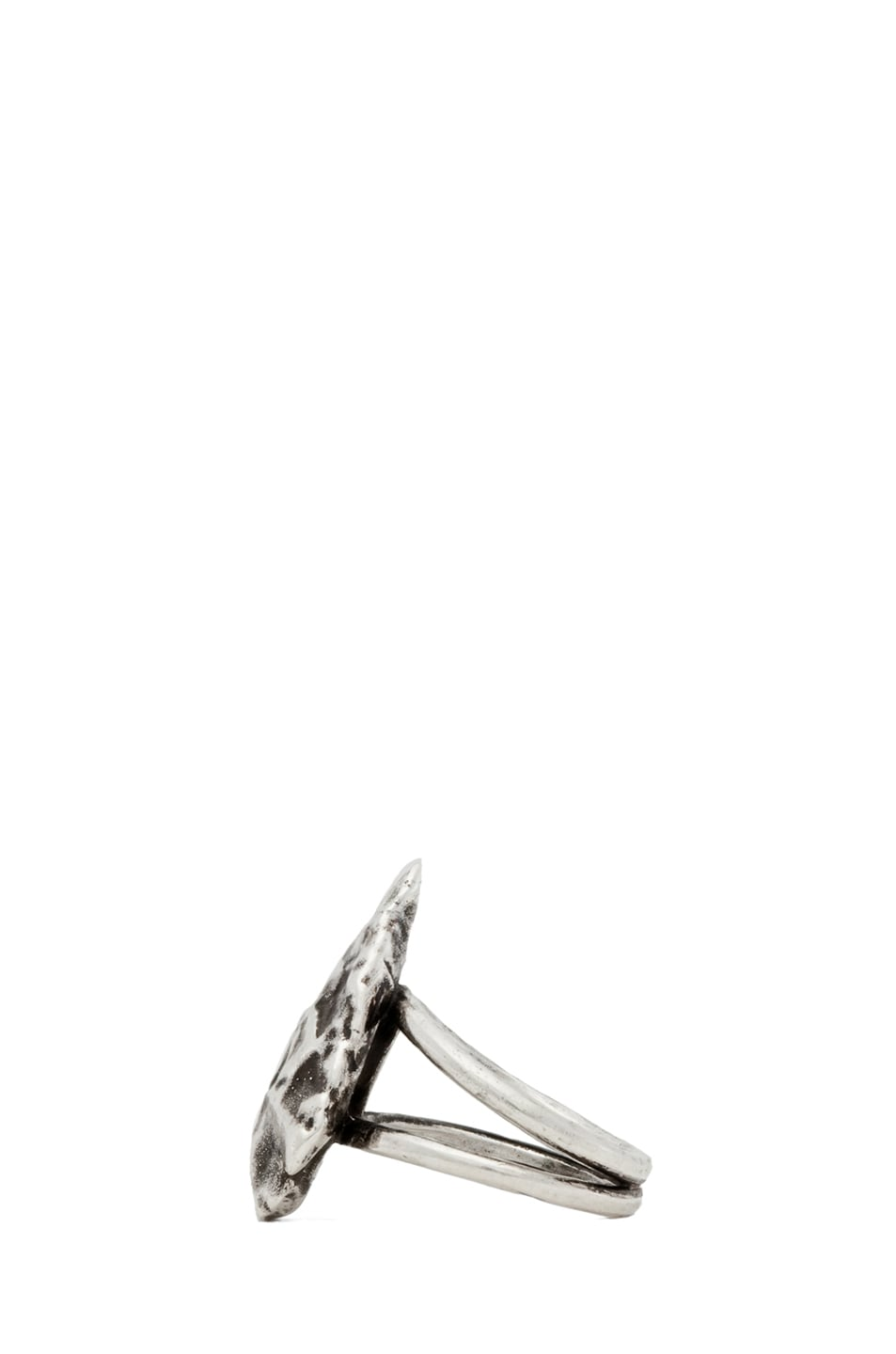 Image 3 of Pamela Love Mini Arrowhead Ring in Antique Silver