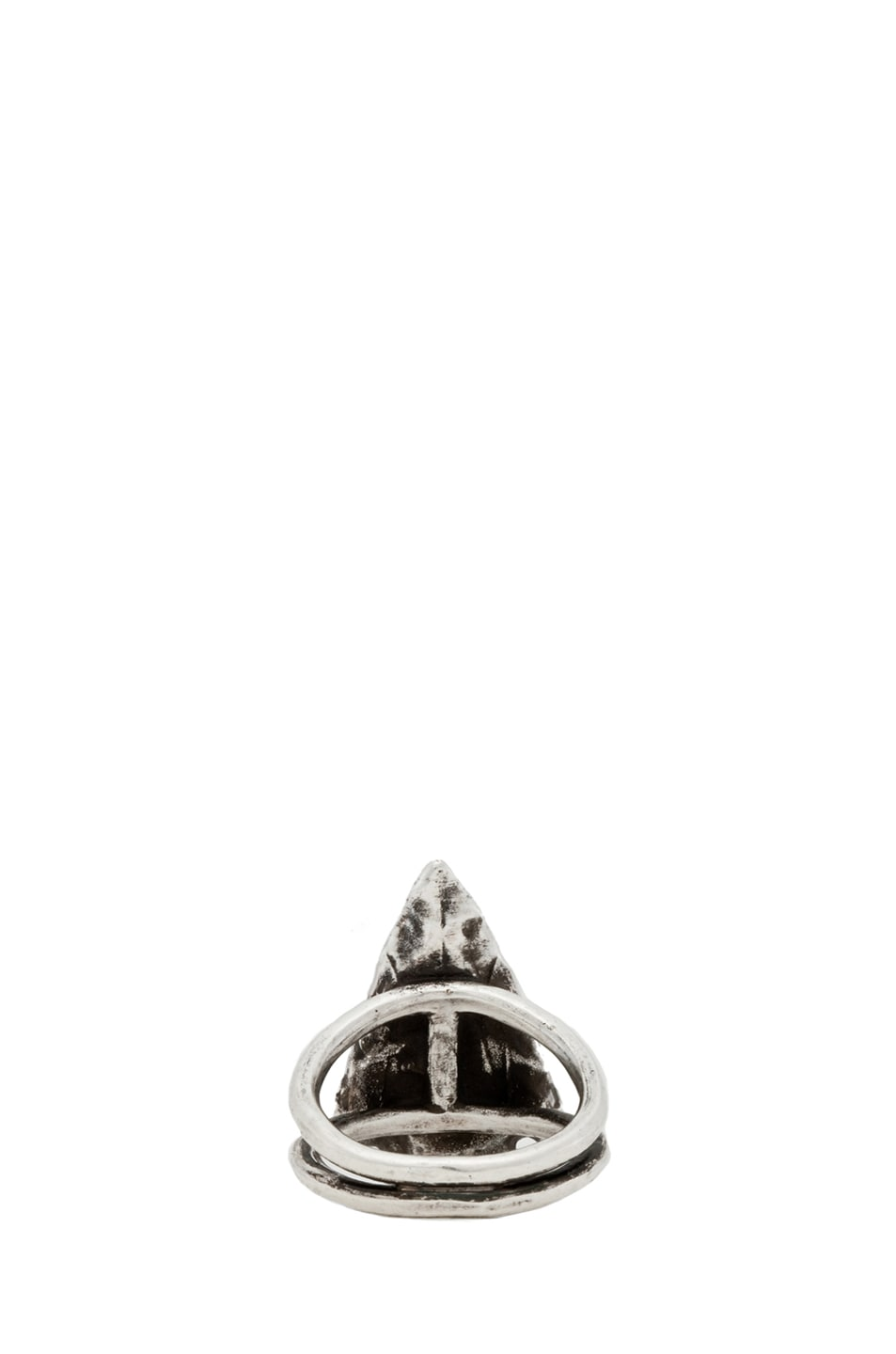 Image 4 of Pamela Love Mini Arrowhead Ring in Antique Silver