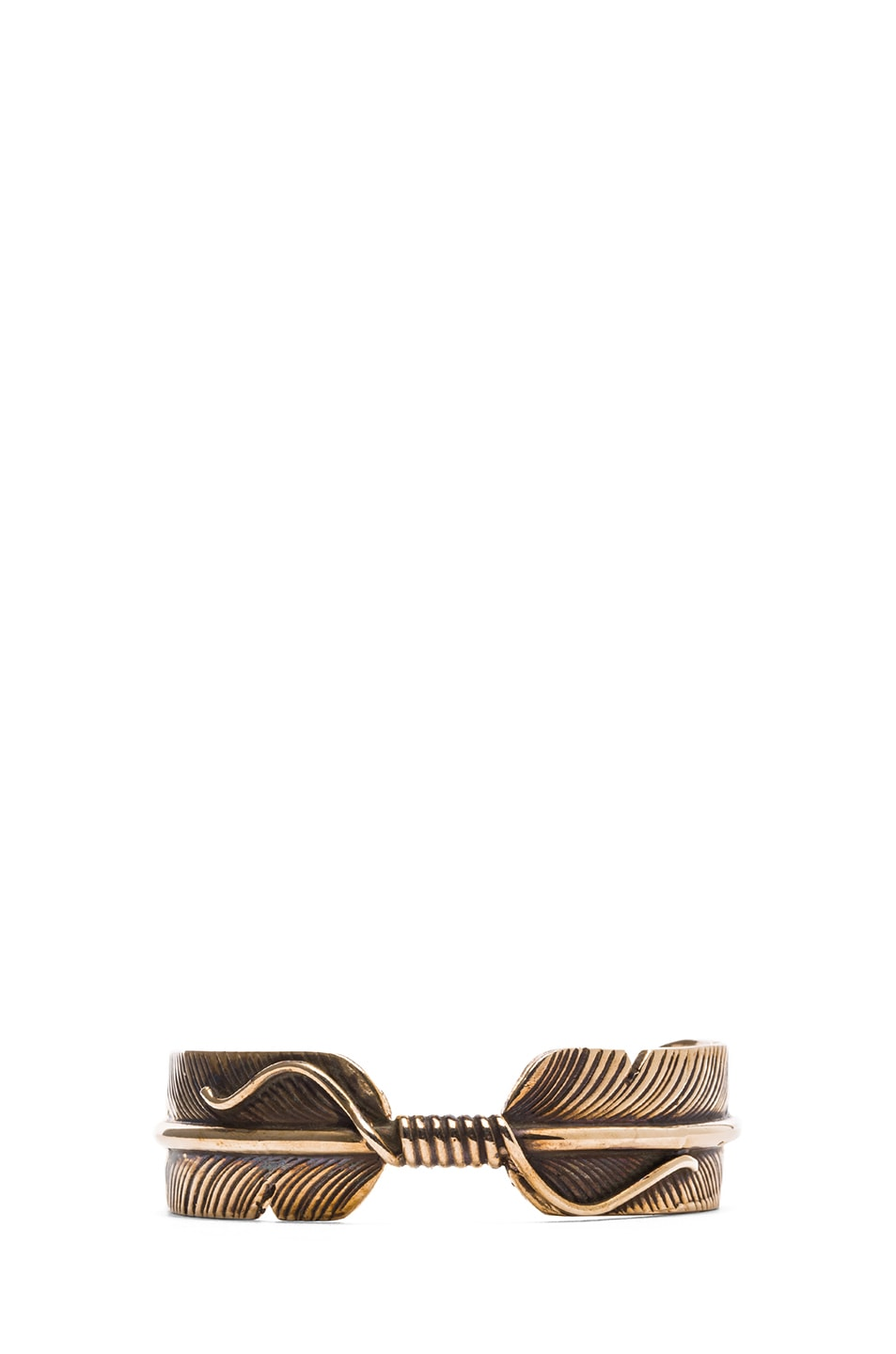 Image 1 of Pamela Love Feather Cuff in Bronze