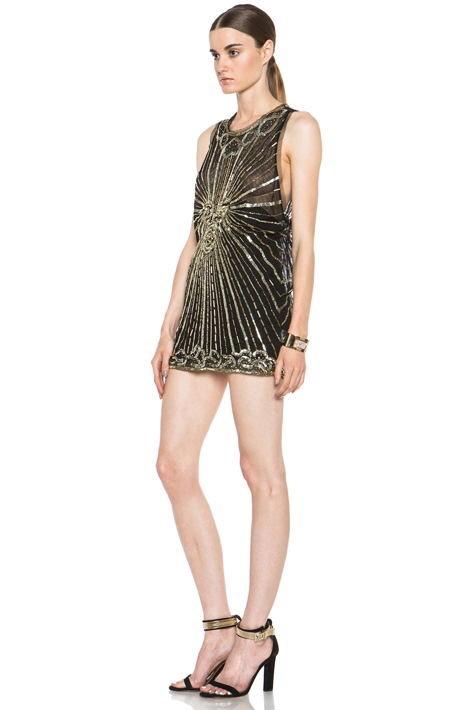 Image 2 of Pierre Balmain Embellished Polyamide Dress in Black