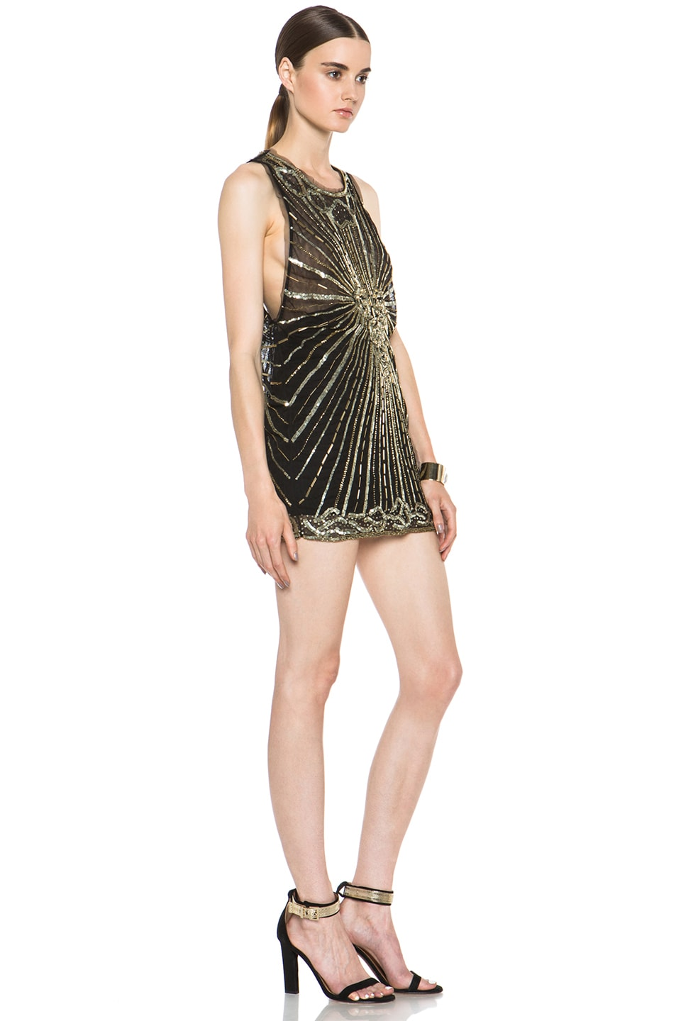 Image 3 of Pierre Balmain Embellished Polyamide Dress in Black