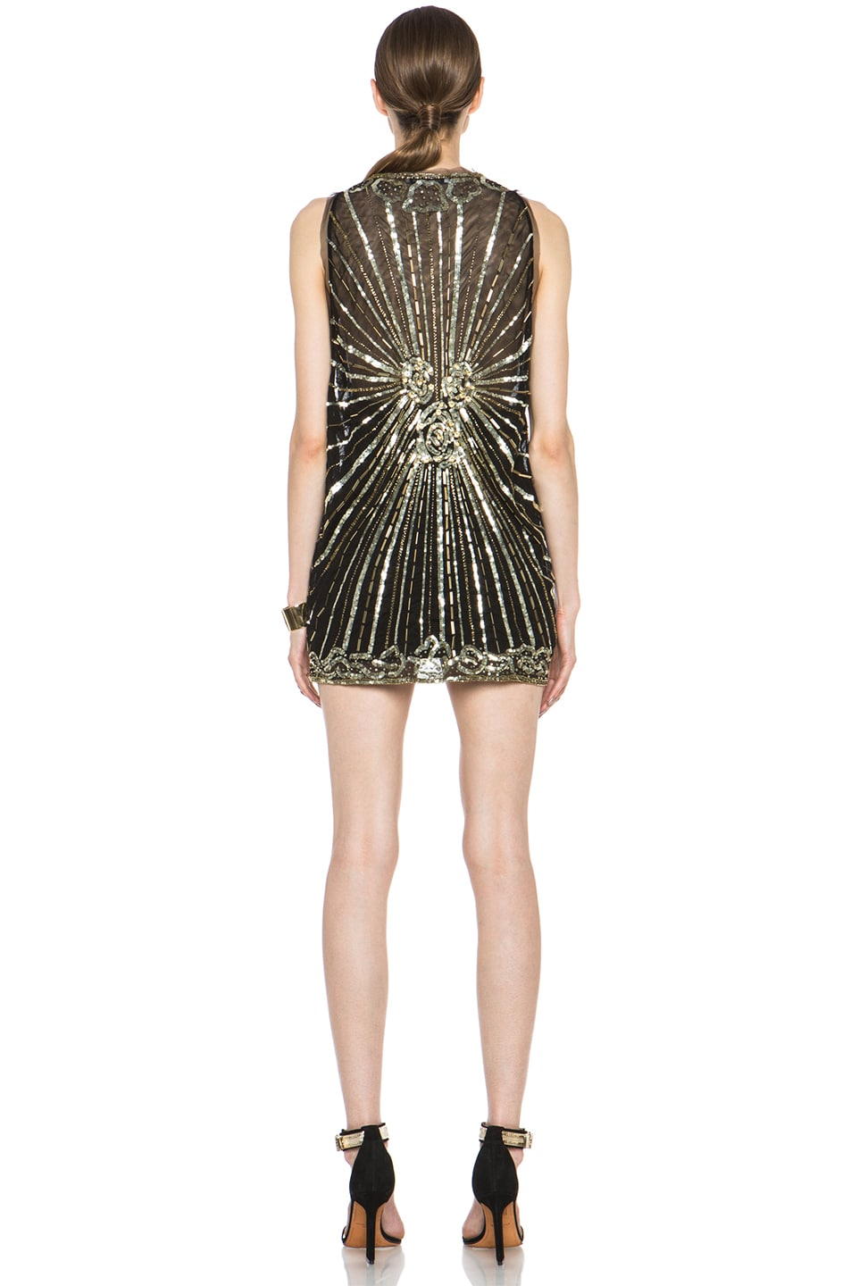 Image 4 of Pierre Balmain Embellished Polyamide Dress in Black