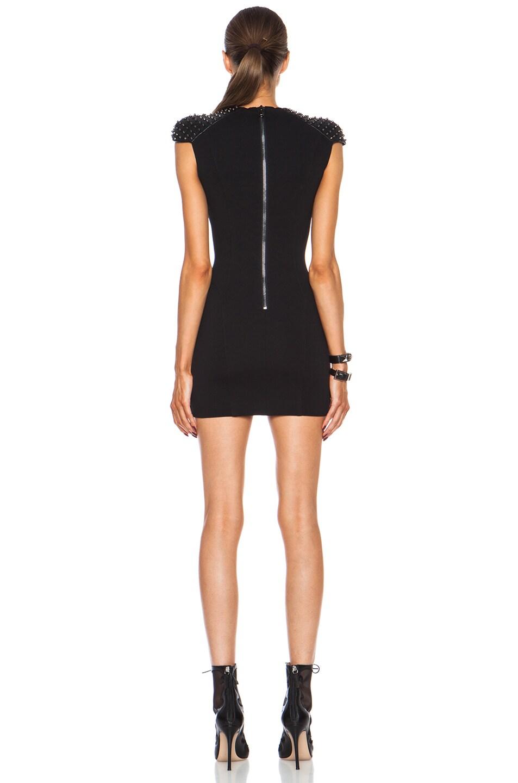 Image 4 of Pierre Balmain Embellished Viscose-Blend Dress in Black