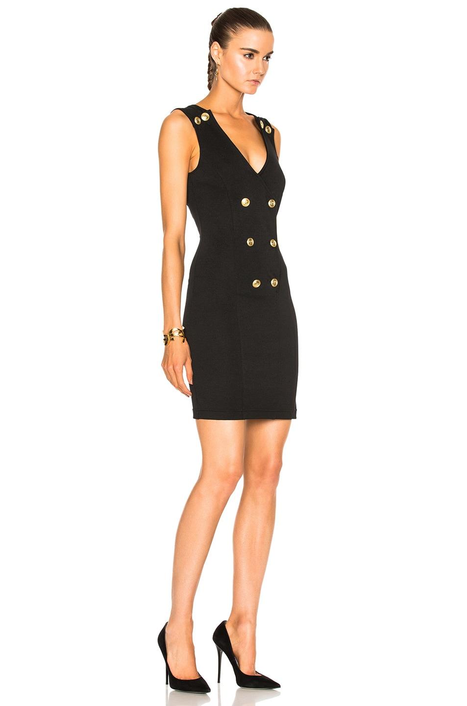 Image 3 of Pierre Balmain V-Neck Sleeveless Dress in Black