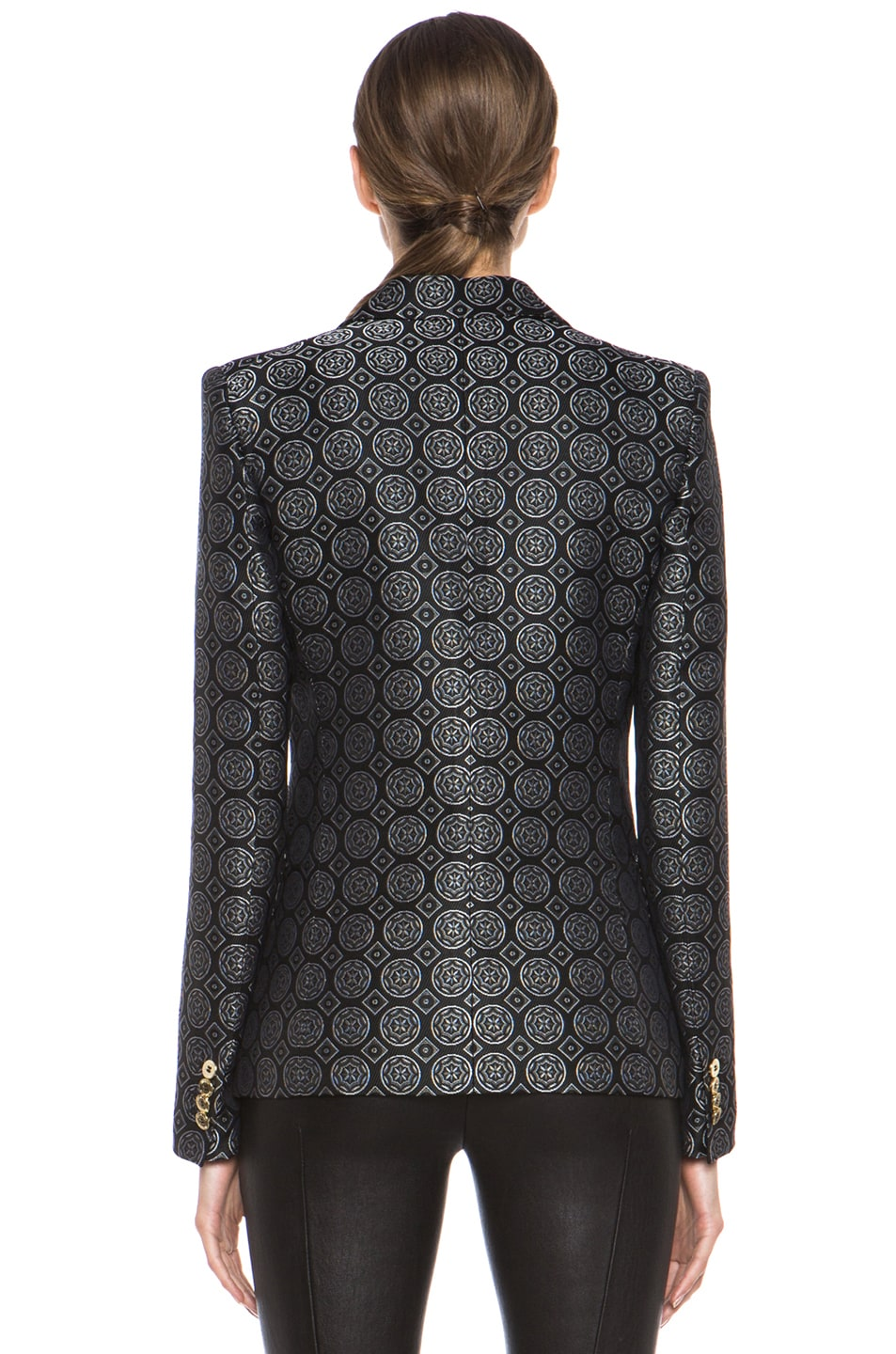Image 5 of Pierre Balmain Brocade Acetate-Blend Blazer in Black