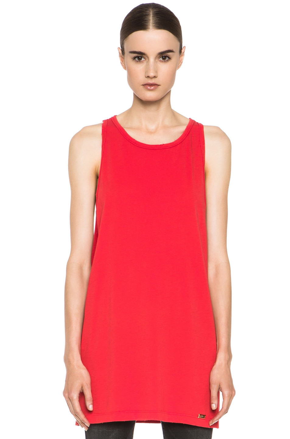 Image 1 of Pierre Balmain Cotton Tank in Red