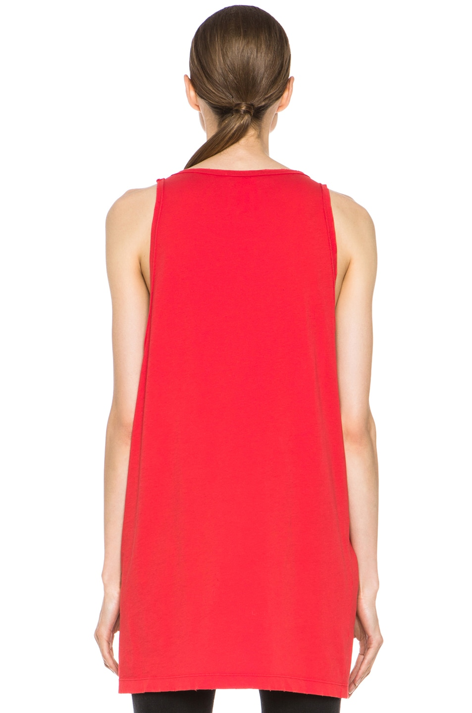 Image 4 of Pierre Balmain Cotton Tank in Red