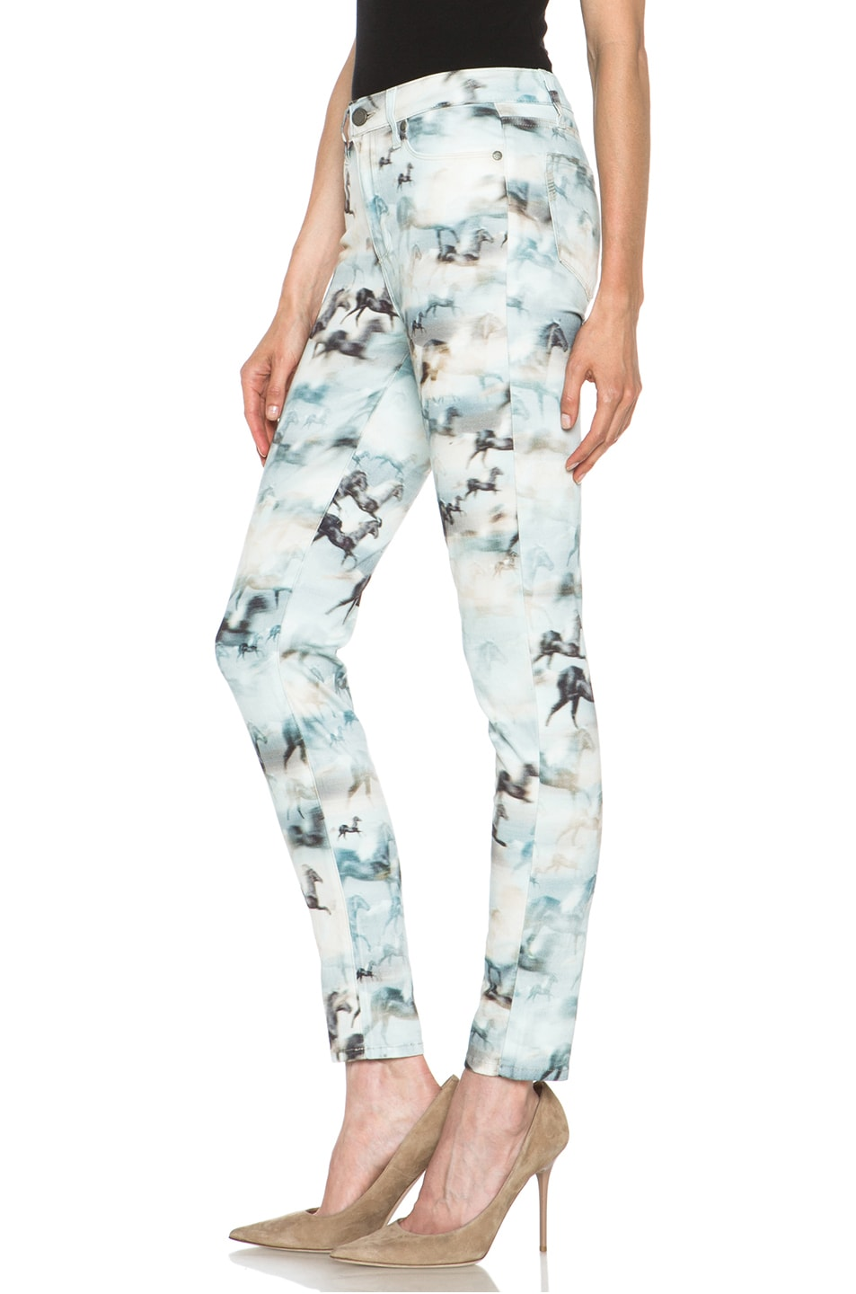 Image 2 of Paige Denim Hoxton Ultra Skinny Jean in Wild Horses