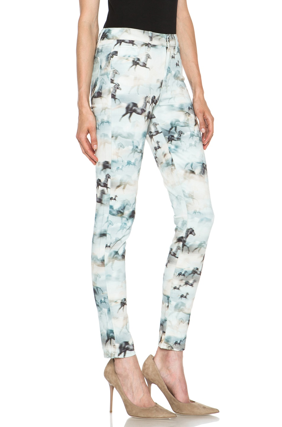 Image 3 of Paige Denim Hoxton Ultra Skinny Jean in Wild Horses